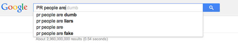 Google Autocomplete on PR people